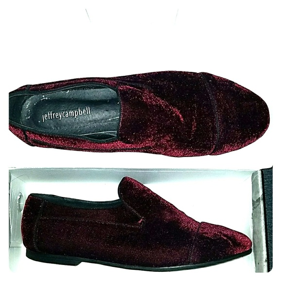 Jeffrey Campbell Shoes - Jeffrey Campbell Bryant Wine Velvet Loafer